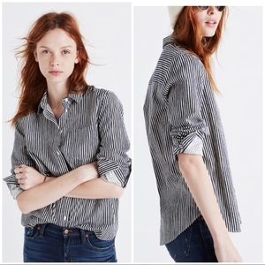 Madewell flannel striped shirt